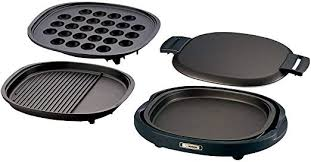 ZOJIRUSHI Three plates (grooved grilled <b>meat</b> plate and <b>large</b> ...