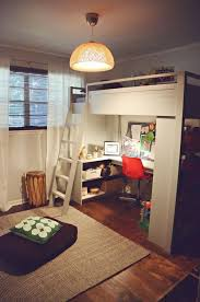 mixing work with pleasure loft beds with desks underneath bed with office underneath