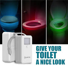 Smart Motion Sensor <b>Toilet Seat Night</b> Light Waterproof Backlight ...