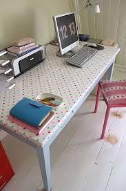 photo blog july 13 fabric oilcloth desk cover desk