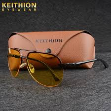 <b>KEITHION</b> Night Vision Driving <b>Glasses</b> Yellow Lens <b>Mens</b> ...