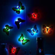 Color Changing <b>Cute</b> Butterfly <b>LED Night Light</b> Home Room Desk ...
