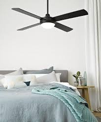 futura eco 132cm fan with led light in black ceiling fans with lights ceiling bedroom decor ceiling fan