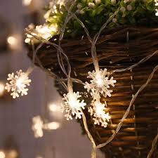 3M/<b>6M 20</b>/40 <b>LED</b> Lights <b>Christmas</b> Tree Ornaments Snow Flakes ...