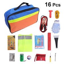 16Pc <b>Multifunctional Car Emergency</b> Equipment Vehicle Outdoor ...