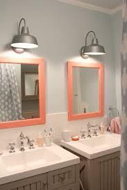 bathroom mirror lighting square modern pink beach theme lighting