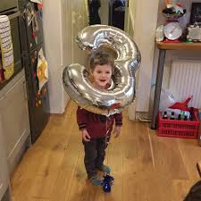 On the day you turn three Like.