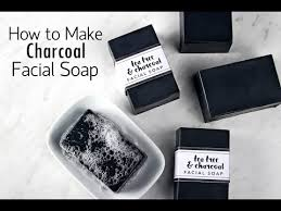 bamboo charcoal handmade soap whitening hydrating washing a face essential oil cleansing to black matte 100g