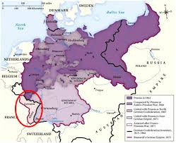 takes alsace lorraine from following the franco unification of german states by bismarck