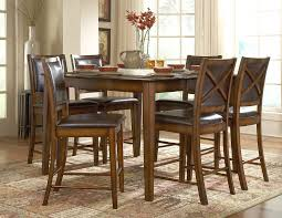 Dining Room Set Counter Height Counter Height Dining Room Set In Black Cherry Traditional Dining