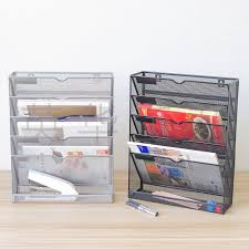 The new <b>five</b>-layer magazine <b>rack metal</b> iron mesh edging <b>grid rack</b> ...