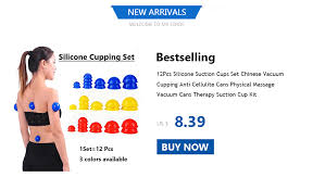 <b>1pcs Vacuum Cans Suction</b> Cup Anti Cellulite Silicone Massage ...