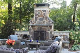 outdoor fireplace backyard patio ideas fireplace