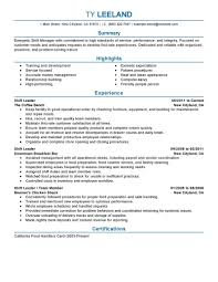 management resume examples management sample resumes livecareer hourly shift manager resume sample