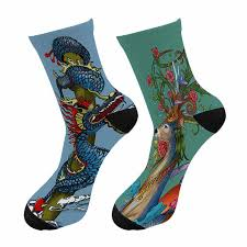 New Harajuku <b>3D Printed</b> Chinese Dragon Graffiti Crew <b>Socks</b> Men ...