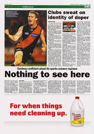 print ad white king premium bleach when things need cleaning up were uncovered in n sport this week grey melbourne and white king thought they d offer to help clean things up in this tactical newspaper ad