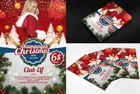 psd flyer white christmas by printdesign on psd flyer champagne christmas by printdesign