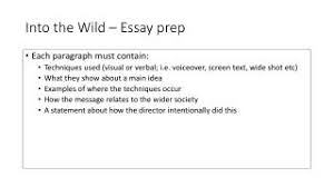 ppt   into the wild – essay prep powerpoint presentation   id   download presentation