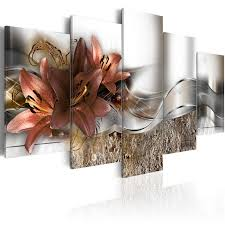 <b>5 Pieces HD</b> Printed Exquisite background brown lily flowers ...