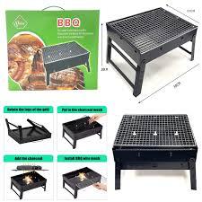 <b>Large BBQ</b> Charcoal Grill <b>Barbecue</b> Steel <b>Foldable</b> Stool Chair ...
