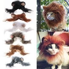Fashion <b>Cat</b> Lovely <b>Pet</b> Costume Lions <b>Mane</b> Wig for <b>Cat</b> Halloween ...