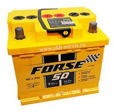 Заказать Аккумулятор <b>Forse</b> (<b>Форс</b>) <b>50Ач</b> п/п 480А (кубик/низкий ...