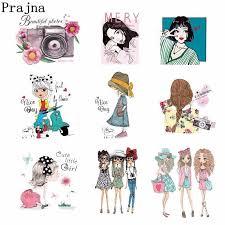 <b>Prajna Vinyl</b> PVC Patches <b>Heat Transfer</b> Paris Modern <b>Girls</b> Patches ...