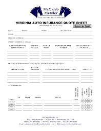 auto insurance quote sheets virginia auto insurance quote sheet by suchenfz