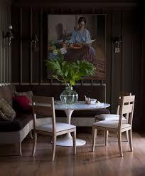 dining room khaki tone: dark inspired dining room from smith hanes studio