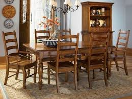 oak dining room set chairs