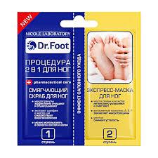<b>Скраб для ног смягчающий</b> + экспресс-<b>маска для ног</b> марки Dr ...