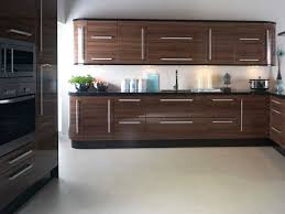 New Doors For Kitchen Units Replacement Kitchen Doors In Apollo Walnut Gloss Ebay
