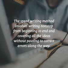 how to write faster and better out sacrificing quality practice speed writing