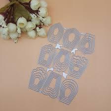 <b>Hot Sale</b> 9pcs Different Flowers Petal Stencil Metal Cutting Dies Cut ...