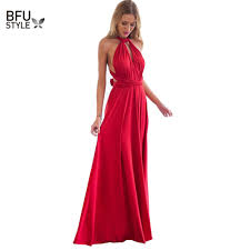 Sexy <b>Women</b> Multiway Wrap Convertible <b>Boho Maxi</b> Club Red ...