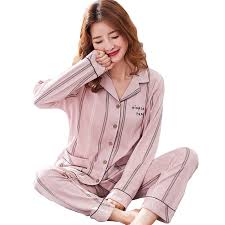 Plus Size <b>Cute Stripes</b> Pajamas Sets Women Sexy Sleepwear ...
