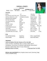 acting resume template daily actor theatre resume template audition resume format