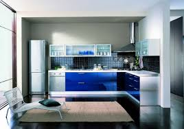 white gloss range: blue kitchen cabinet design with ceramic floor blue and white kitchen