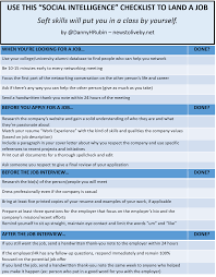 use this social intelligence checklist to land your next job recent grad checklist jpg