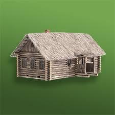 <b>Деревенская</b> изба с соломенной крышей - <b>сборная деревянная</b> ...