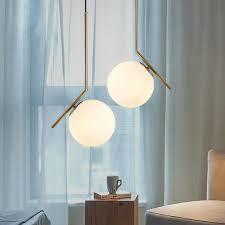 <b>Modern LED Pendant</b> Lights Nordic Simple Glass <b>Ball Pendant</b> ...