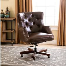 abbyson living roosevelt brown leather office chair brown leather office chairs
