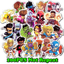 <b>100 Pcs</b>/<b>Lot</b> Stickers For <b>MARVEL</b> Super <b>Hero</b> DC For Car Laptop ...
