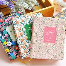 <b>Creative Cute</b> PU Leather Floral Flower Schedule Book Diary ...