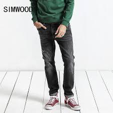 2019 <b>SIMWOOD 2019 Autumn Winter</b> New Jeans Men Slim Fit ...