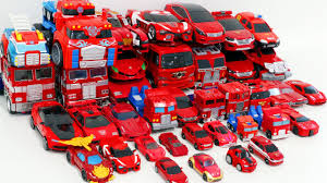 Red Color Transformers HelloCarbot Tobot Miniforce 40 <b>Vehicle</b> ...