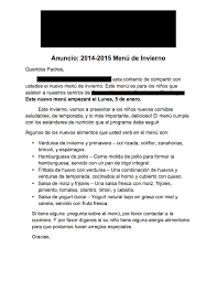 menu development implementation stephanie brooks parent announcement letter spanish