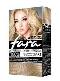Стойкая <b>крем</b>-<b>краска для волос</b> FARA <b>Classic</b> 531 платиновая ...