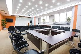 hi tech office alluring hi tech office design with brown wooden meeting table fitted black leather best lighting for office space