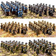 <b>21PCs</b>/<b>set</b> WW2 Army Military Building Blocks Infantry France Italy ...